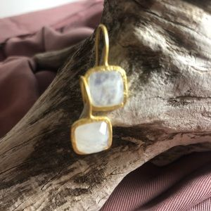 Roost Gold Vermeil Square Earrings